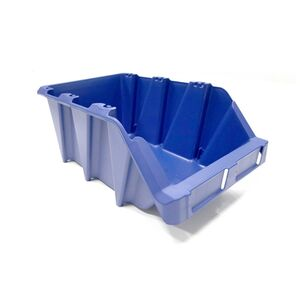Begra stapelbare en nestbare kunststof magazijnbak type S5, 360x217x155 blauw