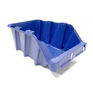Stapelbare en nestbare kunststof magazijnbak type S6, 420x265x177 blauw