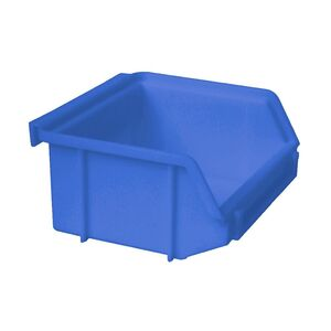 Kunststof stapelbak, Plastic magazijnbak A1 100x100x50 blauw