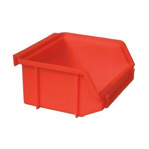 Kunststof stapelbak, Plastic magazijnbak A1 100x100x50 rood