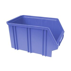 Kunststof stapelbak, Plastic magazijnbak A3 240x150x135 blauw