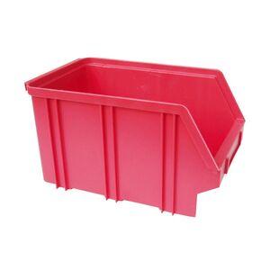 Kunststof stapelbak, Plastic magazijnbak A3 240x150x135 rood