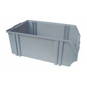 Kunststof stapelbak, Plastic magazijnbak A5 500x300x180 grijs