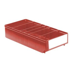Magazijnbak, Magazijnstellingbak, Kunststof bak RK 400x186x83 rood