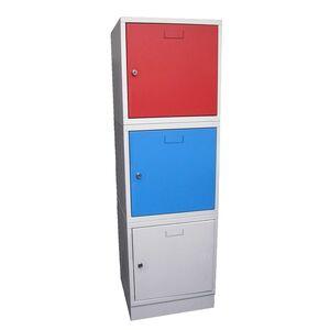 Stapelbare 1-deurs lockerkast kubus locker, rood, cilinderslot
