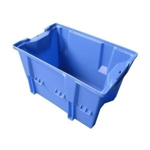 Stapelbare, nestbare transportkrat DLK1C 480x312x200 blauw