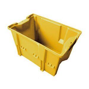 Stapelbare, nestbare transportkrat DLK1C 480x312x200 geel