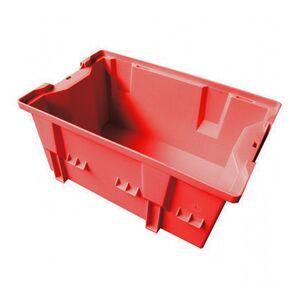 Stapelbare, nestbare transportkrat DLK2 328x210x200 rood