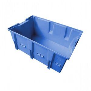 Stapelbare, nestbare transportkrat DLK2C 328x210x150 blauw