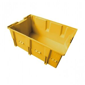 Stapelbare, nestbare transportkrat DLK2C 328x210x150 geel