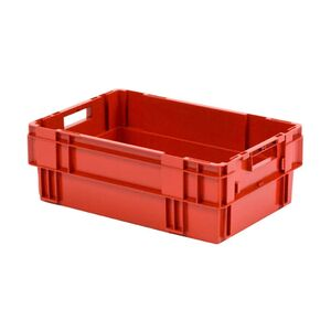 Stapelbare, nestbare transportkrat DTK0 600x400x210 rood