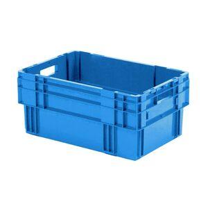 Stapelbare, nestbare transportkrat DTK0 600x400x270 blauw