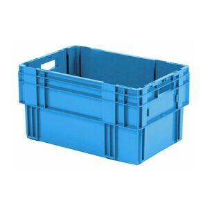 Stapelbare, nestbare transportkrat DTK0 600x400x320 blauw