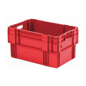 Stapelbare, nestbare transportkrat DTK0 600x400x320 rood