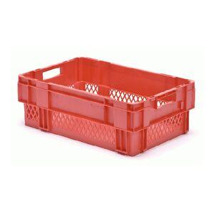 Stapelbare, nestbare transportkrat DTK1 600x400x210 rood