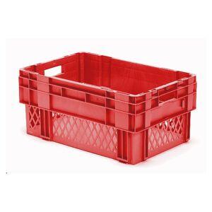 Stapelbare, nestbare transportkrat DTK1 600x400x270 rood
