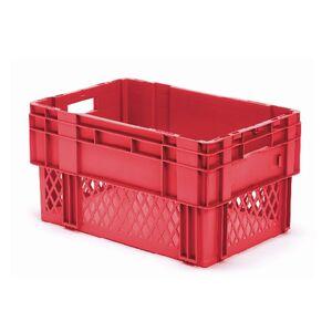 Stapelbare, nestbare transportkrat DTK1 600x400x320 rood