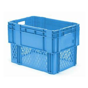 Stapelbare, nestbare transportkrat DTK1 600x400x420 blauw