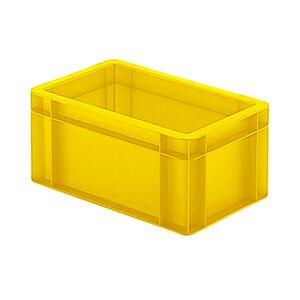 Transportkrat Euronorm plastic bak, krat TK0 300x200x145 geel