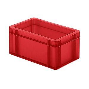 Transportkrat Euronorm plastic bak, krat TK0 300x200x145 rood