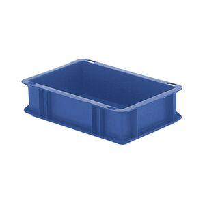 Transportkrat Euronorm plastic bak, krat TK0 300x200x75 blauw