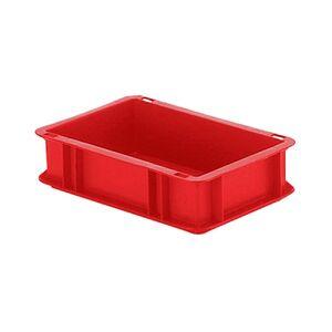 Transportkrat Euronorm plastic bak, krat TK0 300x200x75 rood