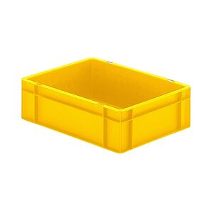 Transportkrat Euronorm plastic bak, krat TK0 400x300x120 geel