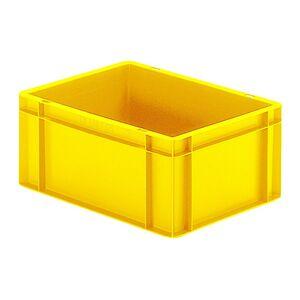 Transportkrat Euronorm plastic bak, krat TK0 400x300x175 geel