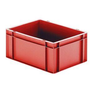 Transportkrat Euronorm plastic bak, krat TK0 400x300x175 rood