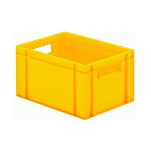 Transportkrat Euronorm plastic bak, krat TK0 400x300x210 geel