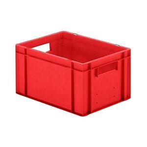 Transportkrat Euronorm plastic bak, krat TK0 400x300x210 rood