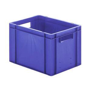 Transportkrat Euronorm plastic bak, krat TK0 400x300x270 blauw