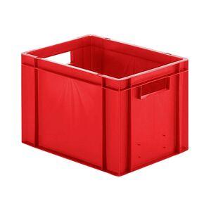 Transportkrat Euronorm plastic bak, krat TK0 400x300x270 rood
