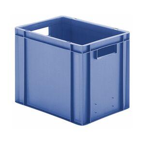 Transportkrat Euronorm plastic bak, krat TK0 400x300x320 blauw