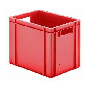 Transportkrat Euronorm plastic bak, krat TK0 400x300x320 rood