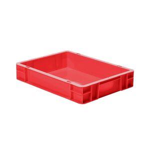 Transportkrat Euronorm plastic bak, krat TK0 400x300x75 rood