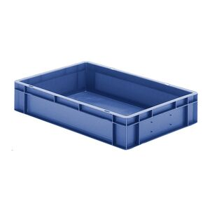 Transportkrat Euronorm plastic bak, krat TK0 600x400x120 blauw