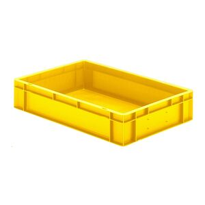 Transportkrat Euronorm plastic bak, krat TK0 600x400x120 geel