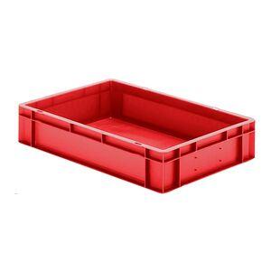 Transportkrat Euronorm plastic bak, krat TK0 600x400x120 rood
