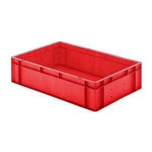 Transportkrat Euronorm plastic bak, krat TK0 600x400x145 rood