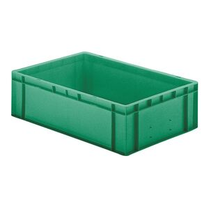Transportkrat Euronorm plastic bak, krat TK0 600x400x175 groen
