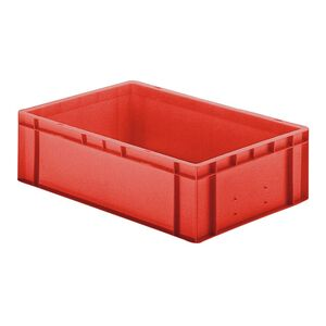Transportkrat Euronorm plastic bak, krat TK0 600x400x175 rood