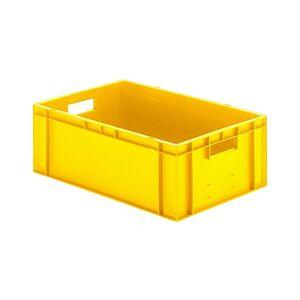Transportkrat Euronorm plastic bak, krat TK0 600x400x210 geel