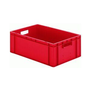 Transportkrat Euronorm plastic bak, krat TK0 600x400x210 rood