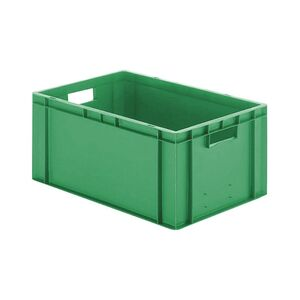 Transportkrat Euronorm plastic bak, krat TK0 600x400x270 groen