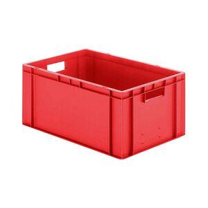 Transportkrat Euronorm plastic bak, krat TK0 600x400x270 rood
