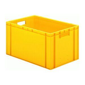 Transportkrat Euronorm plastic bak, krat TK0 600x400x320 geel