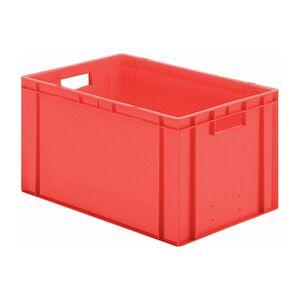 Transportkrat Euronorm plastic bak, krat TK0 600x400x320 rood