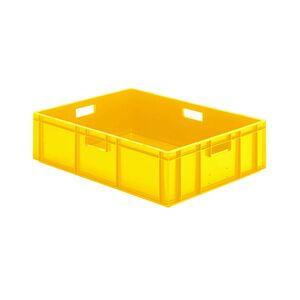 Transportkrat Euronorm plastic bak, krat TK0 800x600x210 geel
