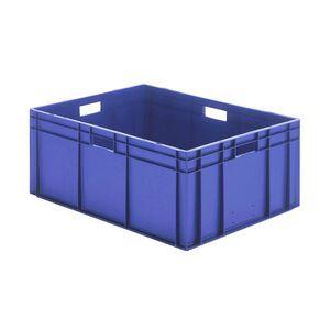 Transportkrat Euronorm plastic bak, krat TK0 800x600x320 blauw